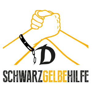Gelb Schwarze Hilfe